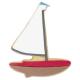 Segelboot Ausstecher 11 cm