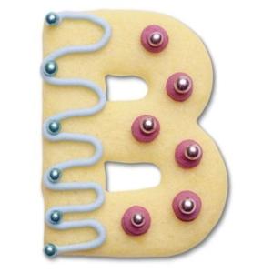 B Buchstabenausstecher  6-7 cm hoch