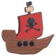 Piratenschiff Ausstecher 10 cm
