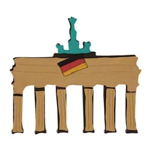 Brandenburger Tor Prägeausstecher 8 cm