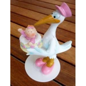 Taufe - Storch mit Mädchen