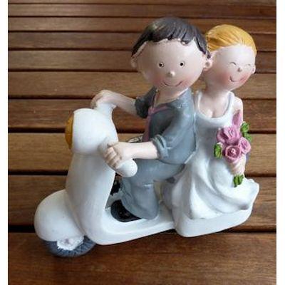 Brautpaar - auf Motorroller
