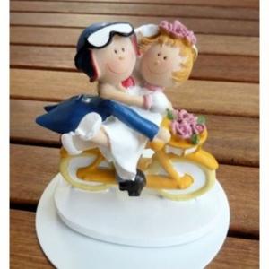 Brautpaar - auf Fahrrad