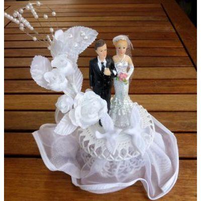 Brautpaar - Silberhochzeit Tüllsockel