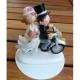 Brautpaar - auf Motorrad