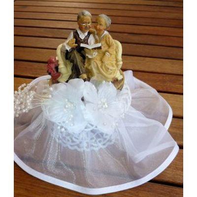 Brautpaar - Goldhochzeit mit Buch