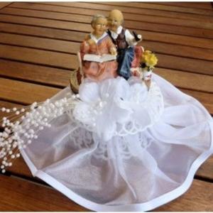 Brautpaar - Goldhochzeit mit Zigarre