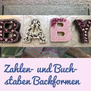 Zahlen- und Buchstaben Backformen
