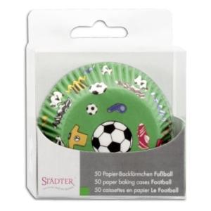 Papier-Backförmchen Fußball – 50 Stück