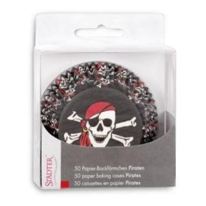 Papier-Backförmchen Pirat – 50 Stück - Mini