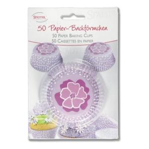 Papier-Backförmchen Blüte – 50 Stück