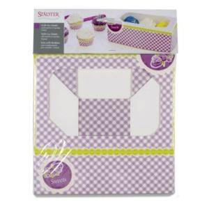 Muffin- & Cupcakebox Sweets – 6er – Set, 2-teilig