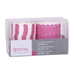 Mini Cupcake Backform pink  – Mini – 12 Stück
