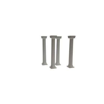 4 griechische Miet-Säulen Höhe 12,5 cm - weiß
