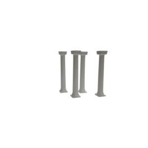 4 griechische Miet-Säulen Höhe 17 cm - weiß