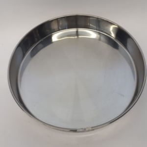 Miet-Backform Rundform Metall 36 cm glänzend