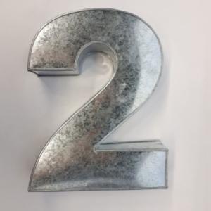 Miet-Zahlenbackform Riesen Ziffer 2 - 35cm