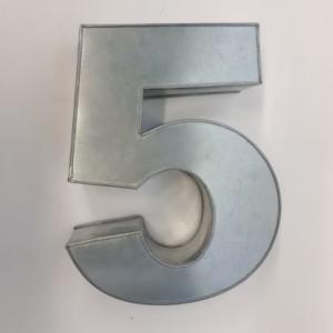 Miet-Zahlenbackform Riesen Ziffer 5 - 35cm