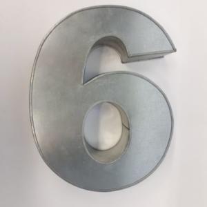 Miet-Zahlenbackform Riesen Ziffer 6 - 35cm