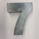 Miet-Zahlenbackform Riesen Ziffer 7 - 35cm