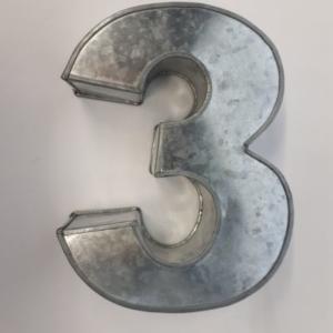 Miet-Zahlenbackform  Ziffer 3 - 25cm
