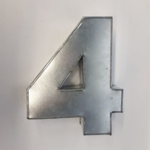 Miet-Zahlenbackform  Ziffer 4 - 25cm