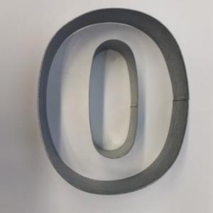 Miet-Zahlenbackrahmen Riesen Ziffer 0 - 35cm