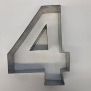 Miet-Zahlenbackrahmen Riesen Ziffer 4 - 35cm