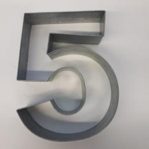 Miet-Zahlenbackrahmen Riesen Ziffer 5 - 35cm