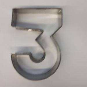 Miet-Zahlenbackrahmen Ziffer 3 - 25cm