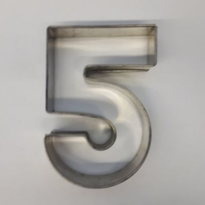 Miet-Zahlenbackrahmen Ziffer 5 - 25cm